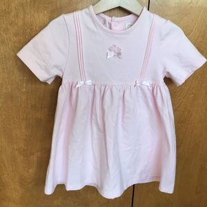 NWT Emile et Rose pink cotton baby dress